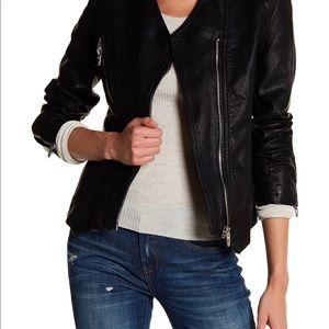 BlankNYC pleather black jacket XS